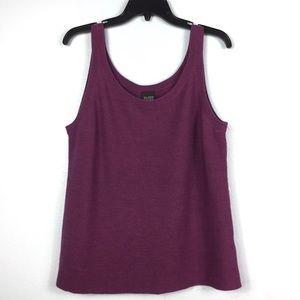 Eileen Fisher Purple 100% Merino Wool Knit Tank